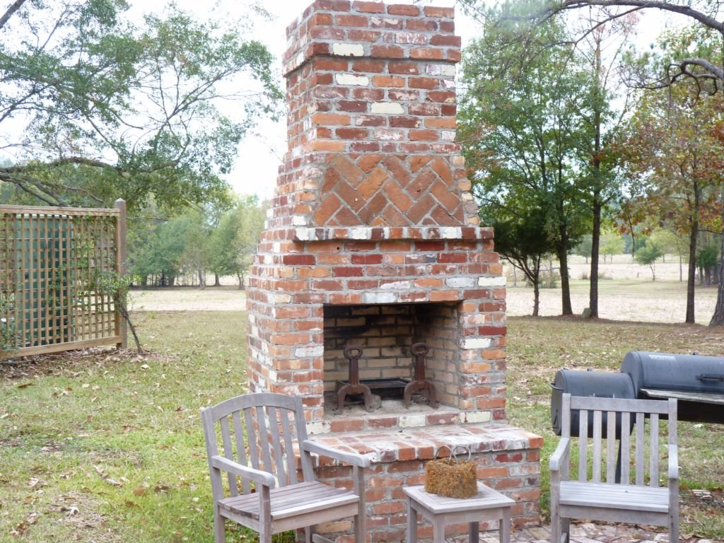 Outdoor Red Brick Fireplace Great Combination Affordable Outdoor Fireplace Kits