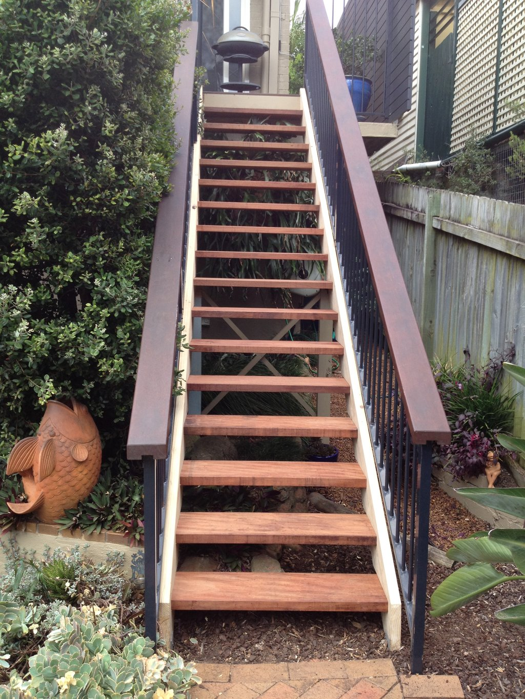 Outdoor Stair Outdoor Wooden Spiral Staircase