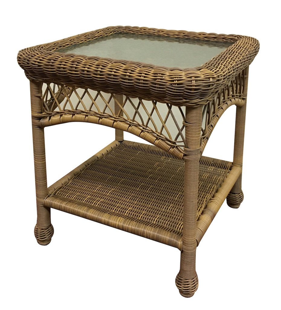 Outdoor Wicker Table Favorites Blog Painted The Wicker End Tables