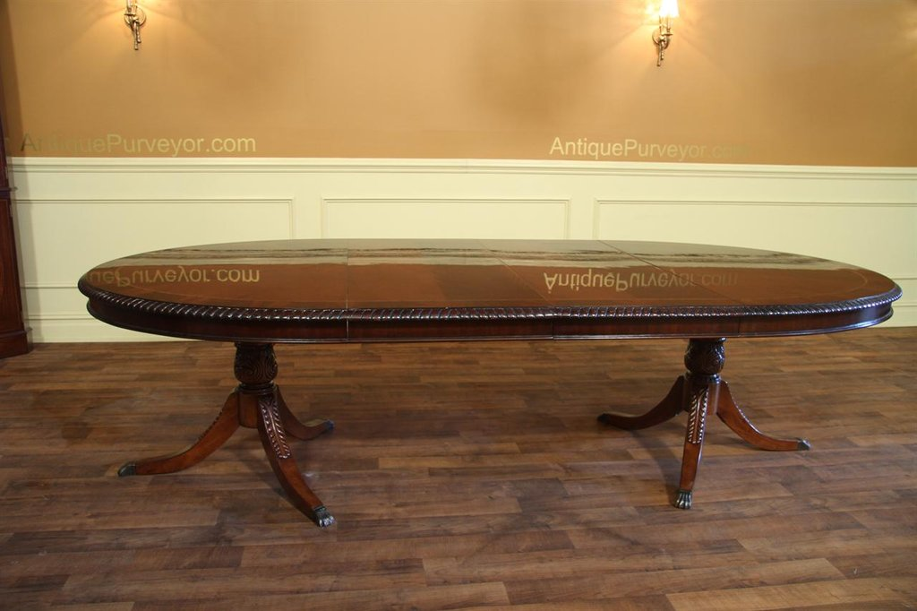 Oval Double Pedestal Dining Table American Double Pedestal Dining Table Antique
