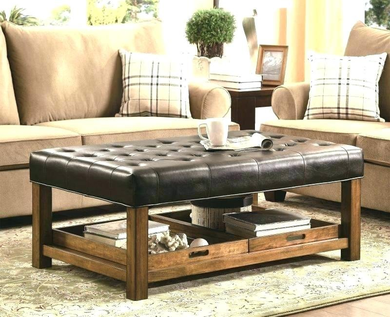 Oversized Leather Ottoman Coffee Square Leather Ottoman Coffee Table