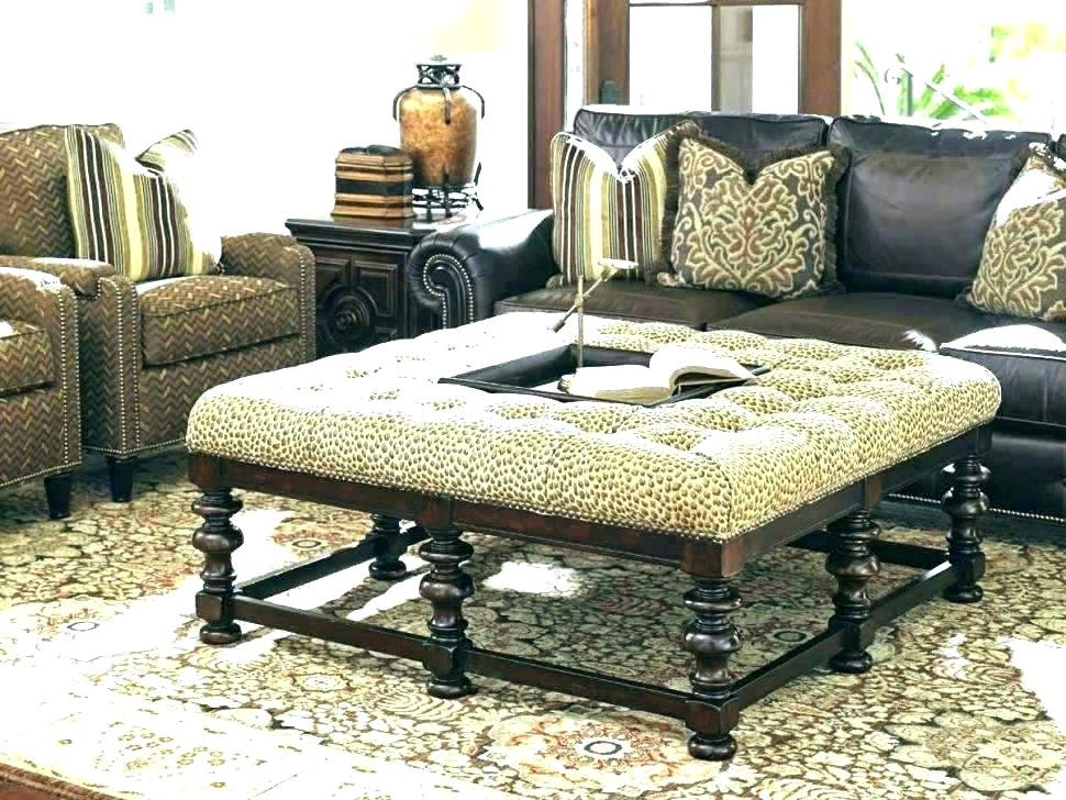 Oversized Leather Ottoman Tufted Ottoman Oversized Square Leather Ottoman Coffee Table