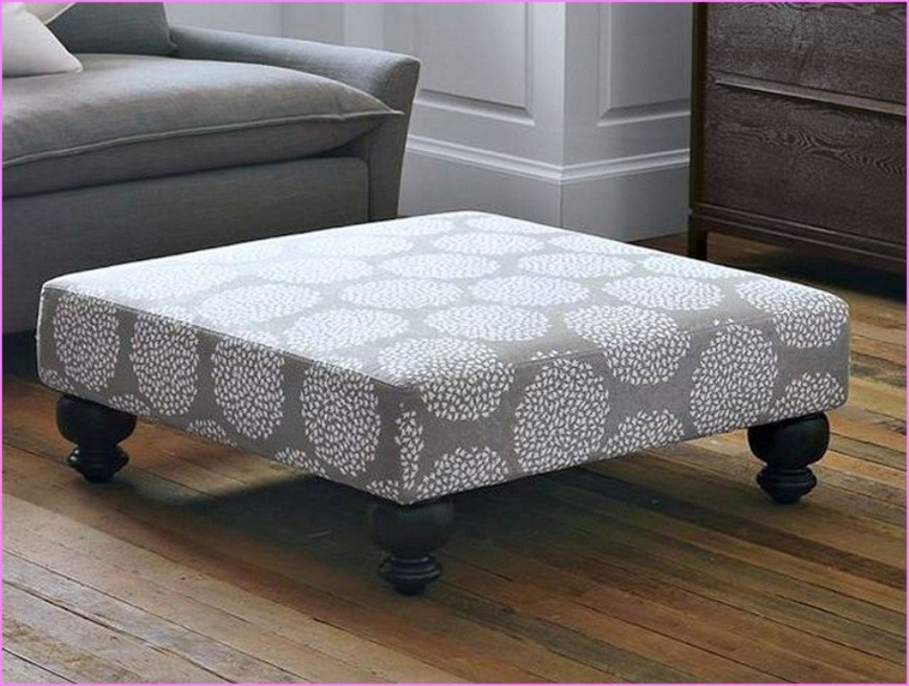 Oversized Square Ottoman Functional Comfortable Small Square Ottoman Coffee Table