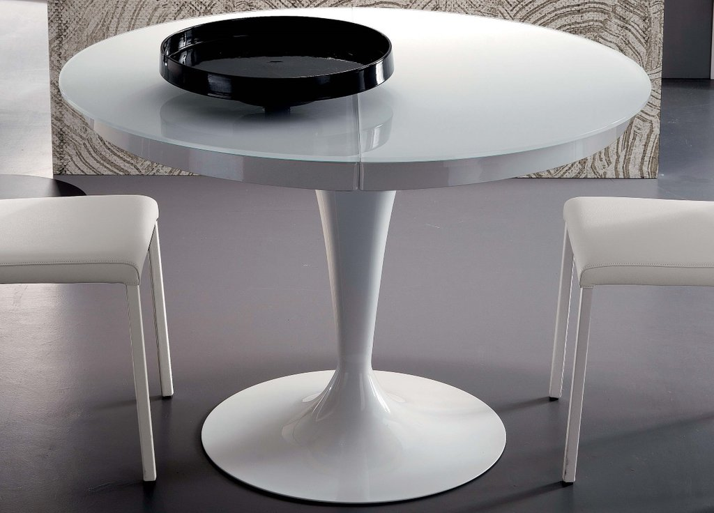 Ozzio Eclipse Extending Dining Table Ozzio Classic Round Extendable Dining Table