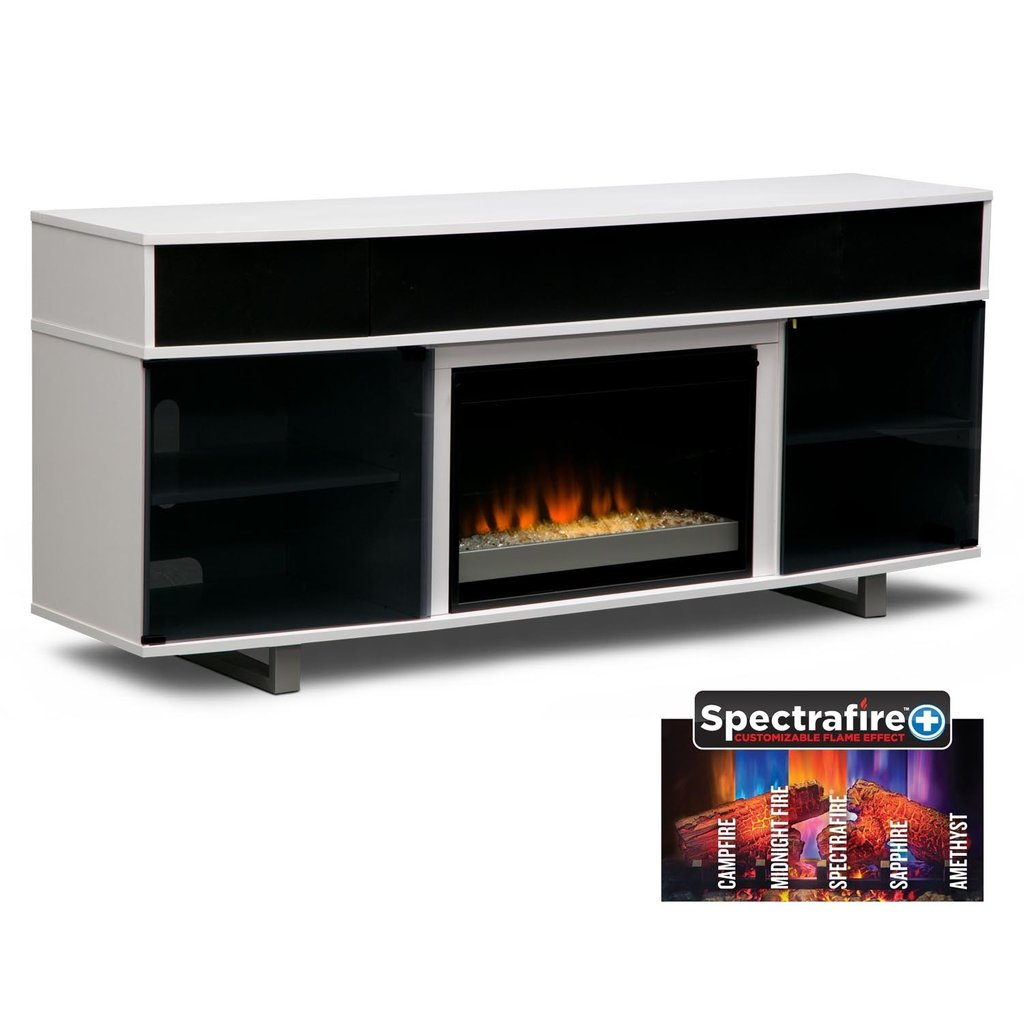 Pacer 72 Quot Contemporary Fireplace Tv Stand Sound Bar Fireplace TV Stand