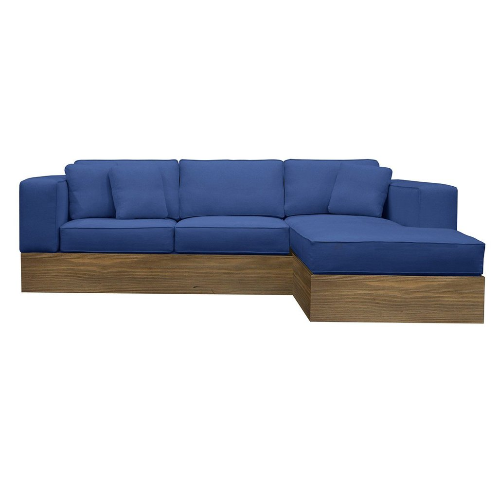 Pacifica Sectional Sofa Reclaimed Wood Round Dining Table