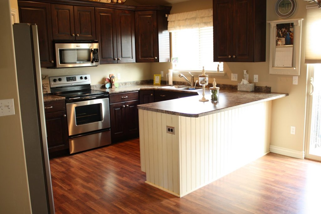 Paint Color Kitchen Wall Maple Cabinet Painting Wood Paneling Without Sanding