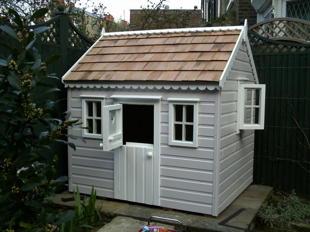 Painted Children Cottage Opening Window Stuff Durability Of Kids Wooden Playhouse