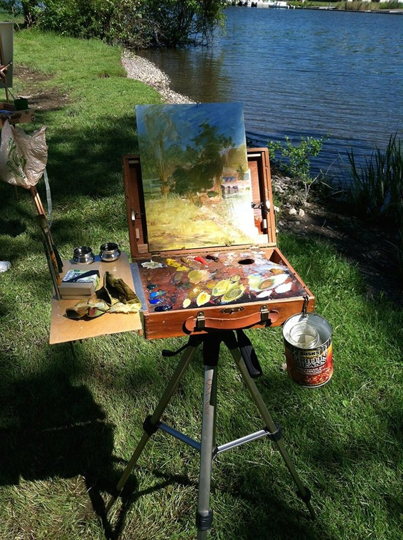 Painting Easel Paint Inspiration Convert A Painter Table Top Easel