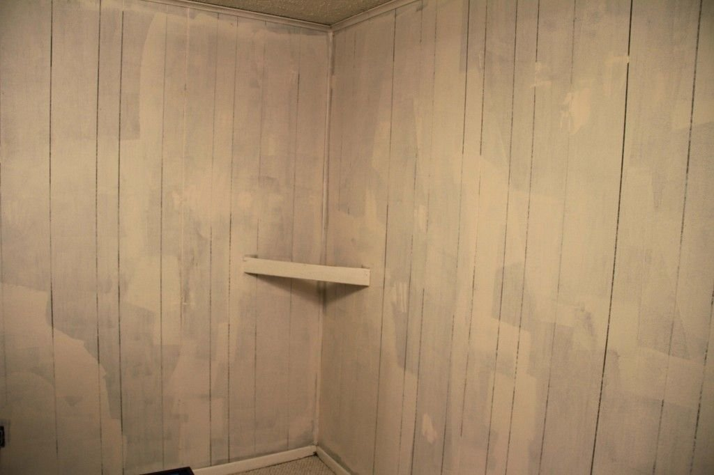Painting Fake Wood Paneling Great Instruction Pic Wood Paneling Makeover Remodel