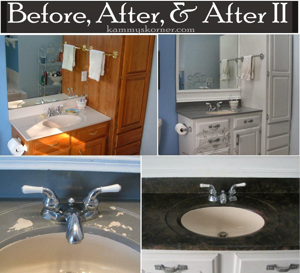 Painting Porcelain Vanity Countertop Improved Cast Iron Kitchen Sinks Color