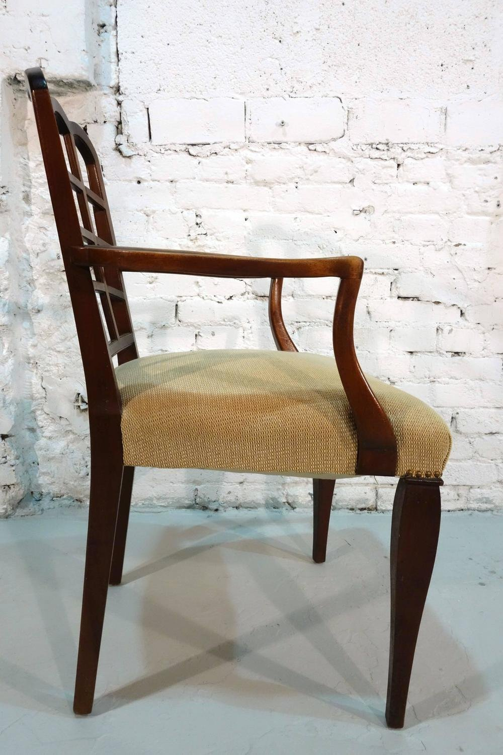Pair Early 20th Century Aesthetic Movement Armchair How To Repair Rattan Dining Chairs