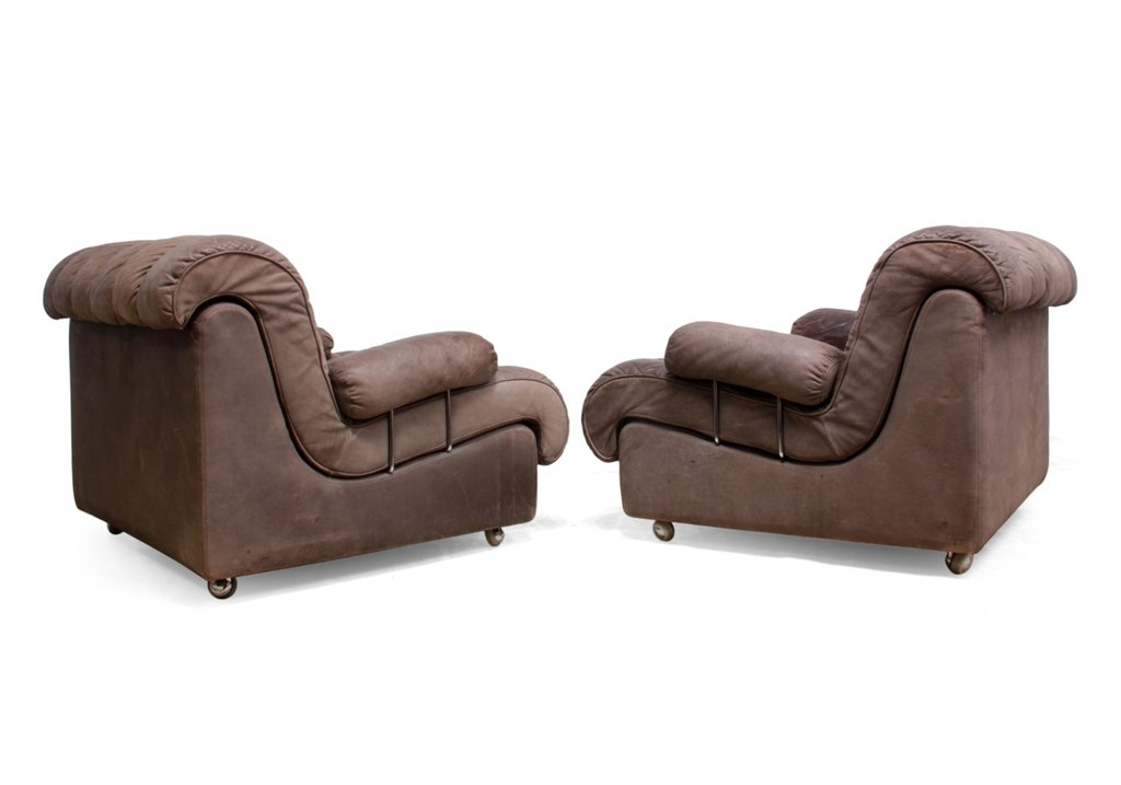 Pair Mid Century Leather Lounge Chair Furniture Decoration Mid Century Leather Sofa