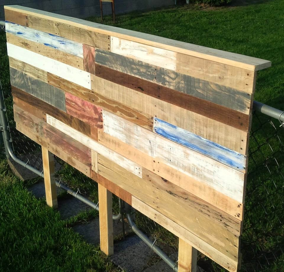 Pallet Headboard Tutorial Easy Pallet Idea How To Make A Header Two Queen Size Headboards