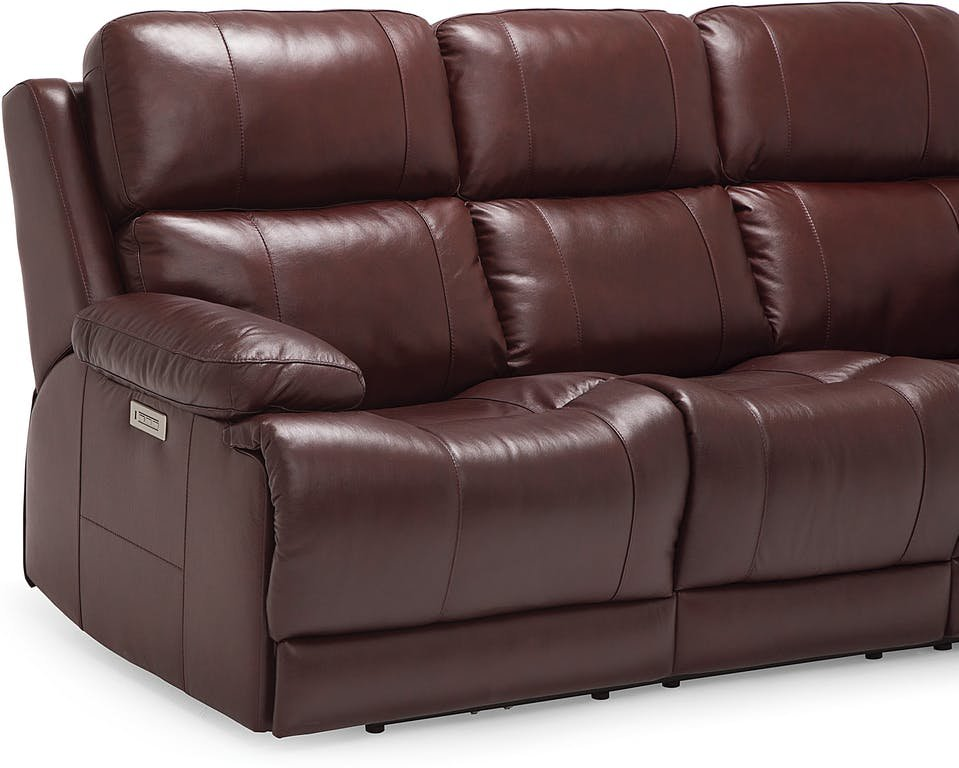 Palliser Furniture Living Room Power Sofa Recliner 41064 Leather Sofa Recliner With Console