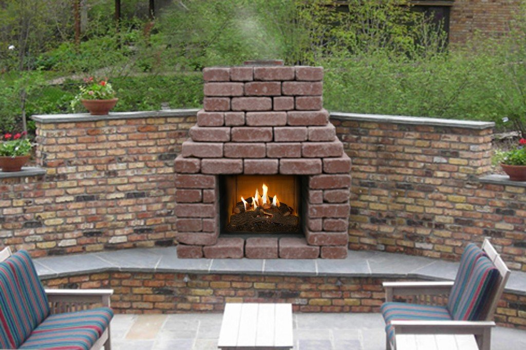 Patio Series Fireplace Stone Age Manufacturing Affordable Outdoor Fireplace Kits