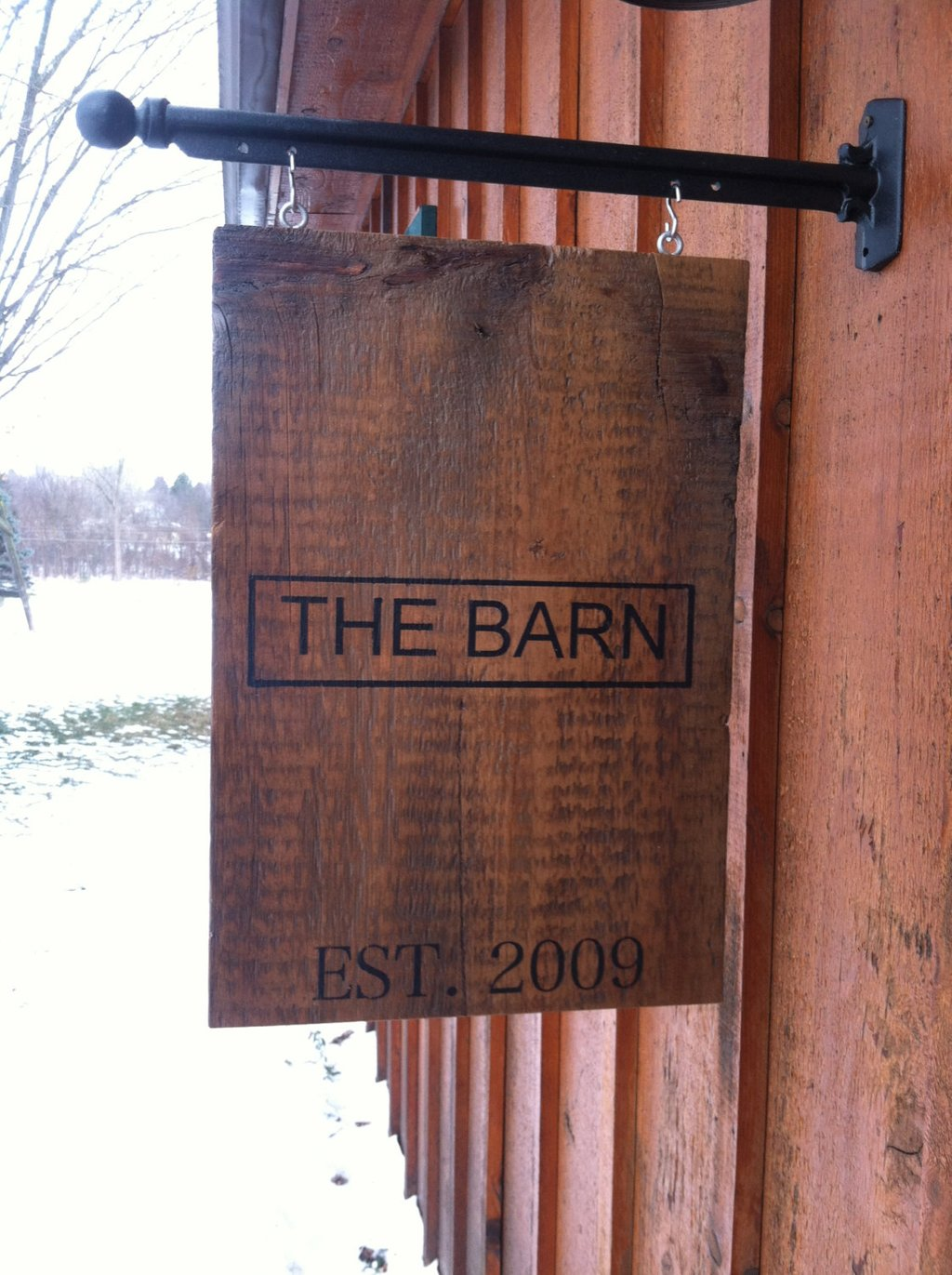 Personalized Sign Hanging Metal Post Painted Barn Barn Wood Headboard Ideas