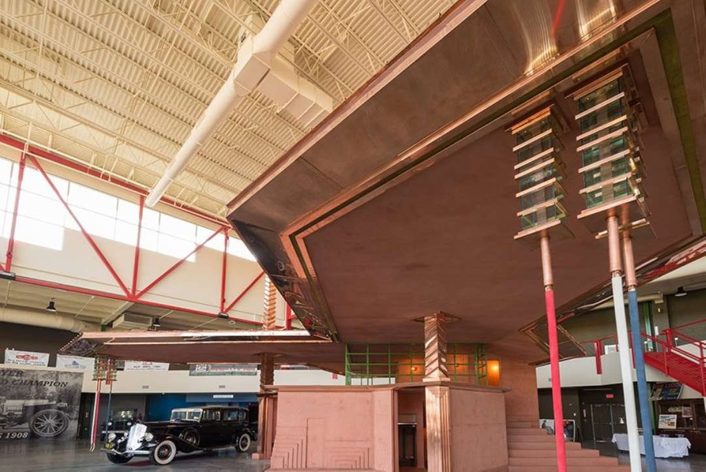Petrol Station Frank Lloyd Wright Designed 87 Year Decorative Copper Ceiling Tiles Tips