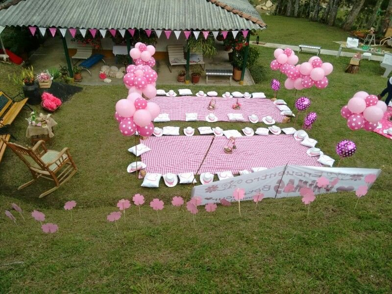 Picnic Party Pink Picnic Party Decorating Square Picnic Table