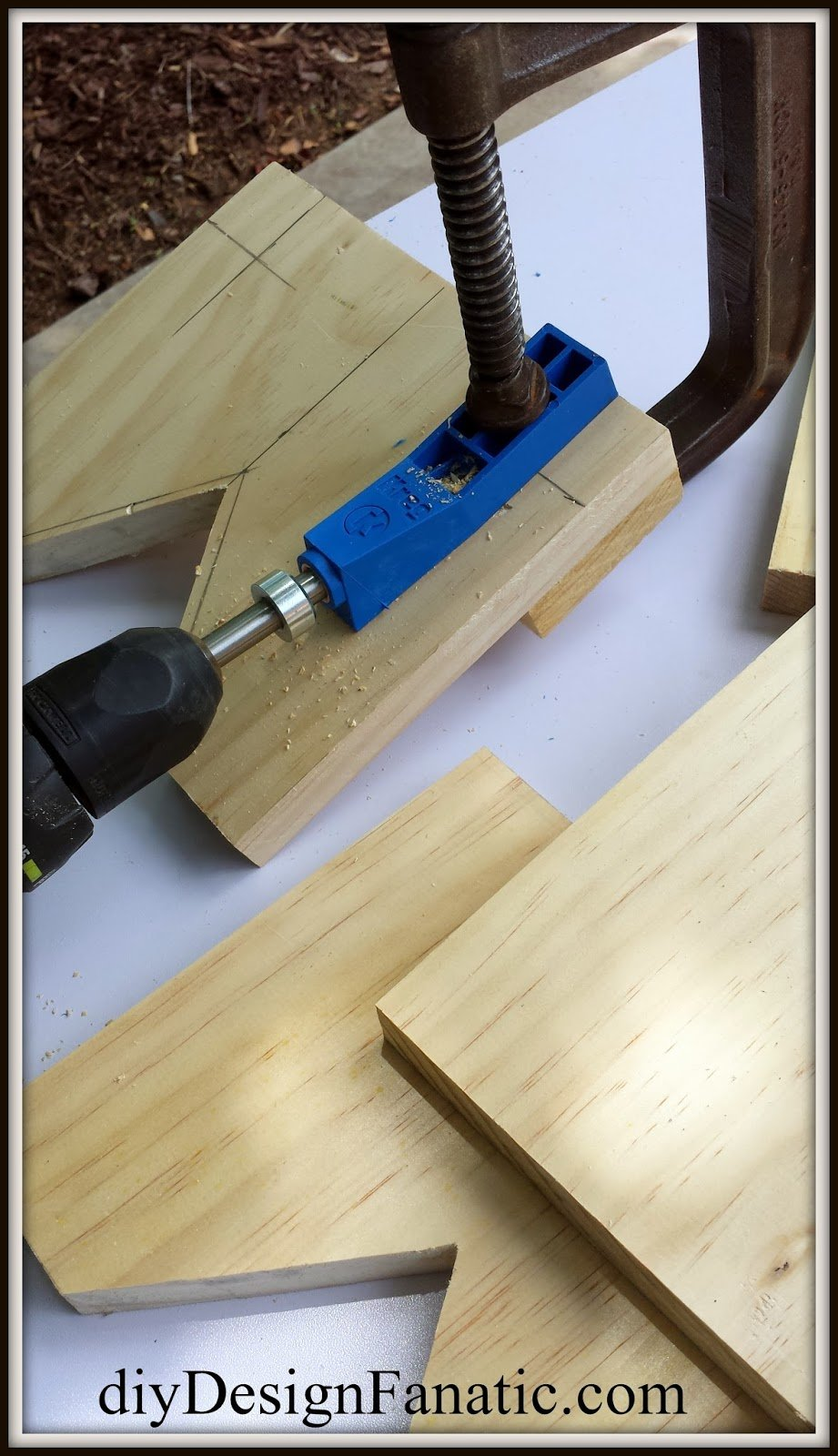 Piece Laid Pocket Hole How To Build A Wooden Bathtub Stool