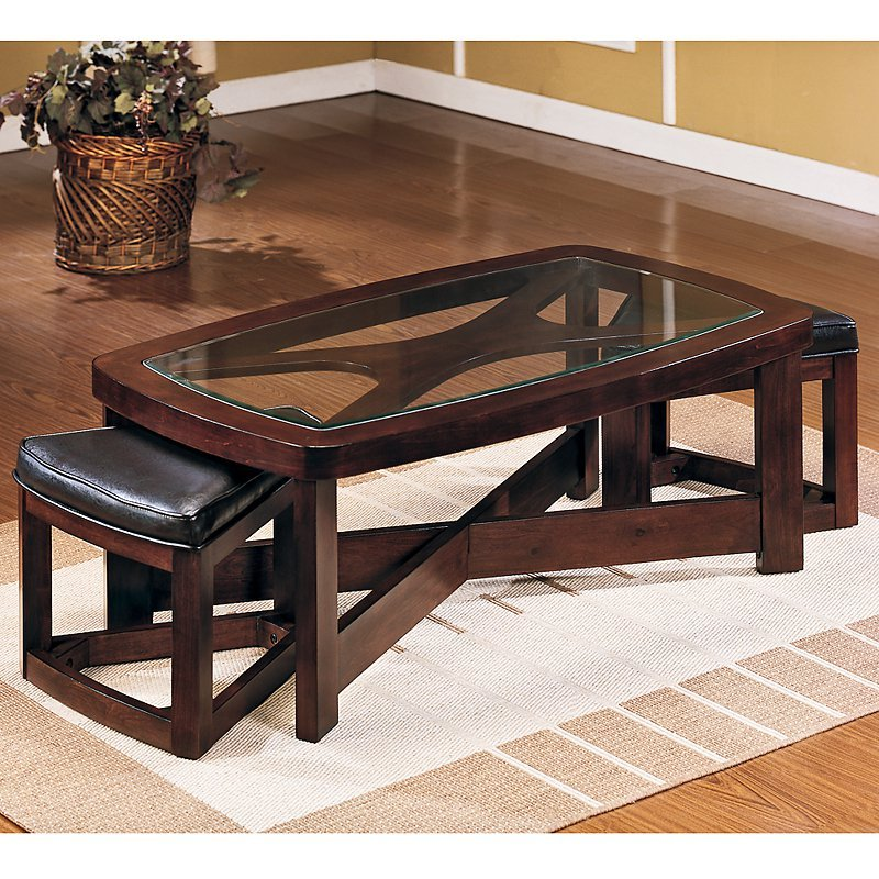 Piece Rectangular Coffee Table 2 Ottoman Hayneedle Decorate A Leather Ottoman Coffee Table