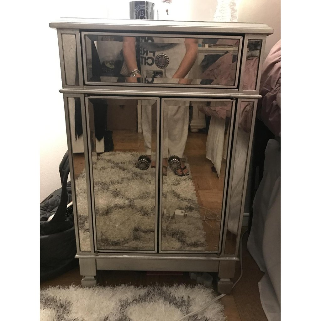 Pier Mirrored Nightstand Affordable Mirrored Mirrored Nightstand And Dresser