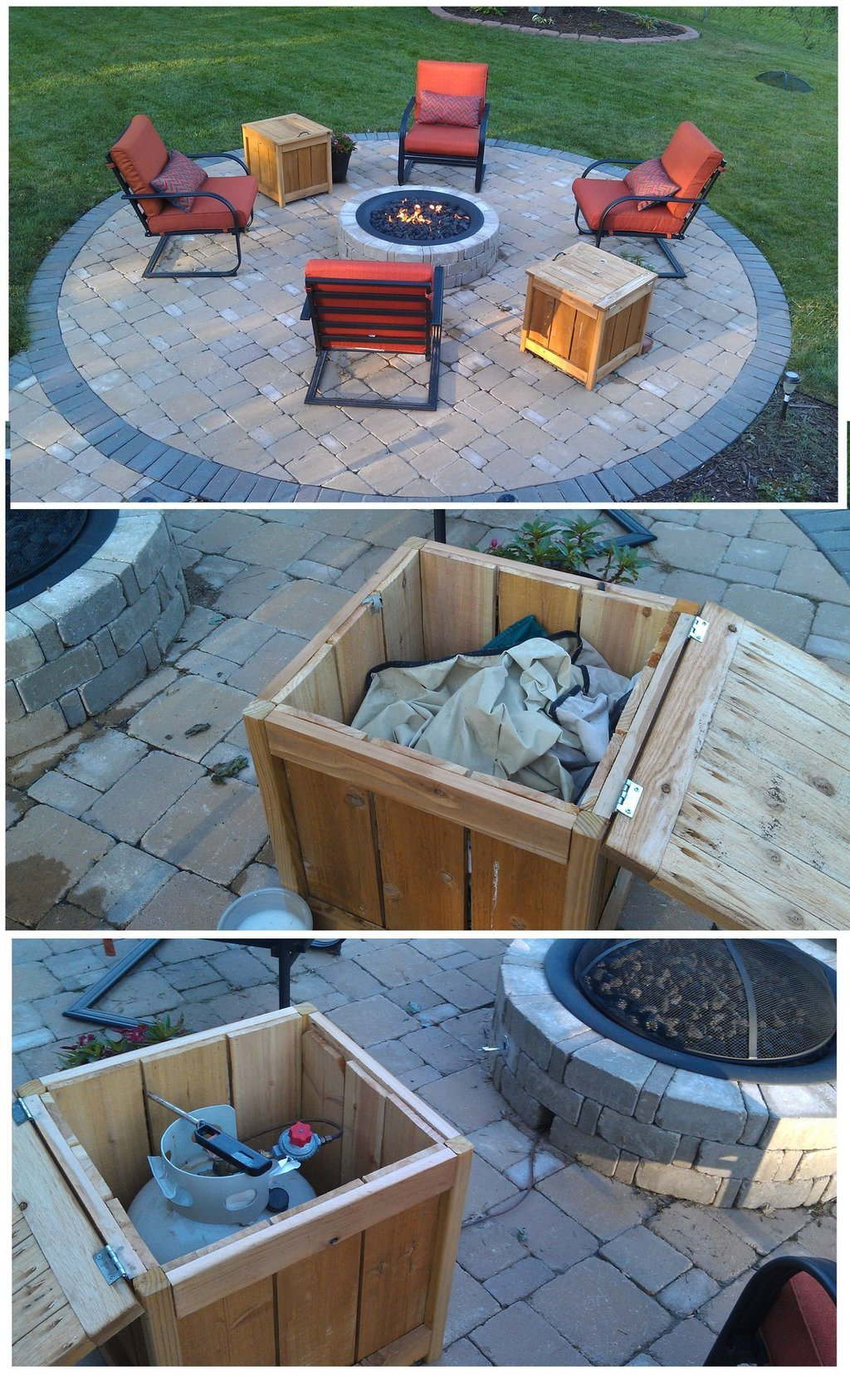 Pin Andrew Pease Tank Cover Outdoor Propane Fire Making Fire Pit Coffee Table
