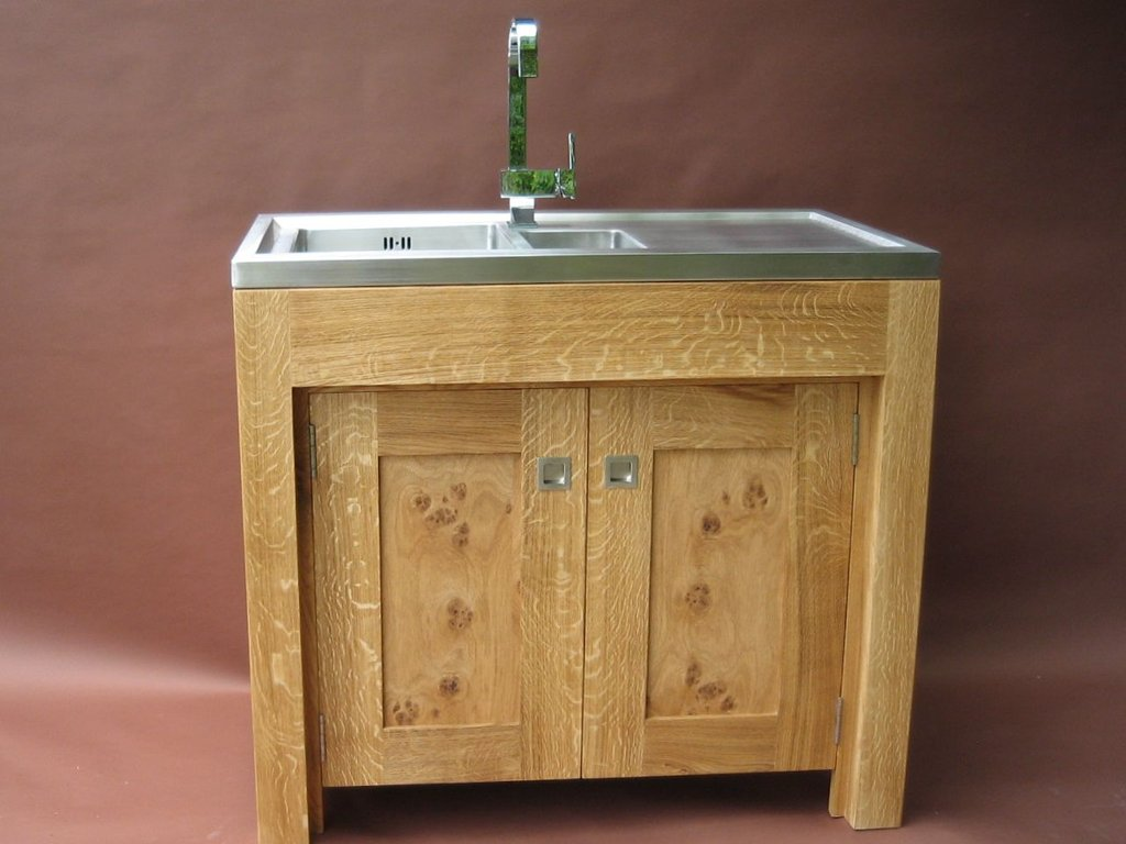 Pippy Oak Freestanding Sink Unit Handmade Lulu
