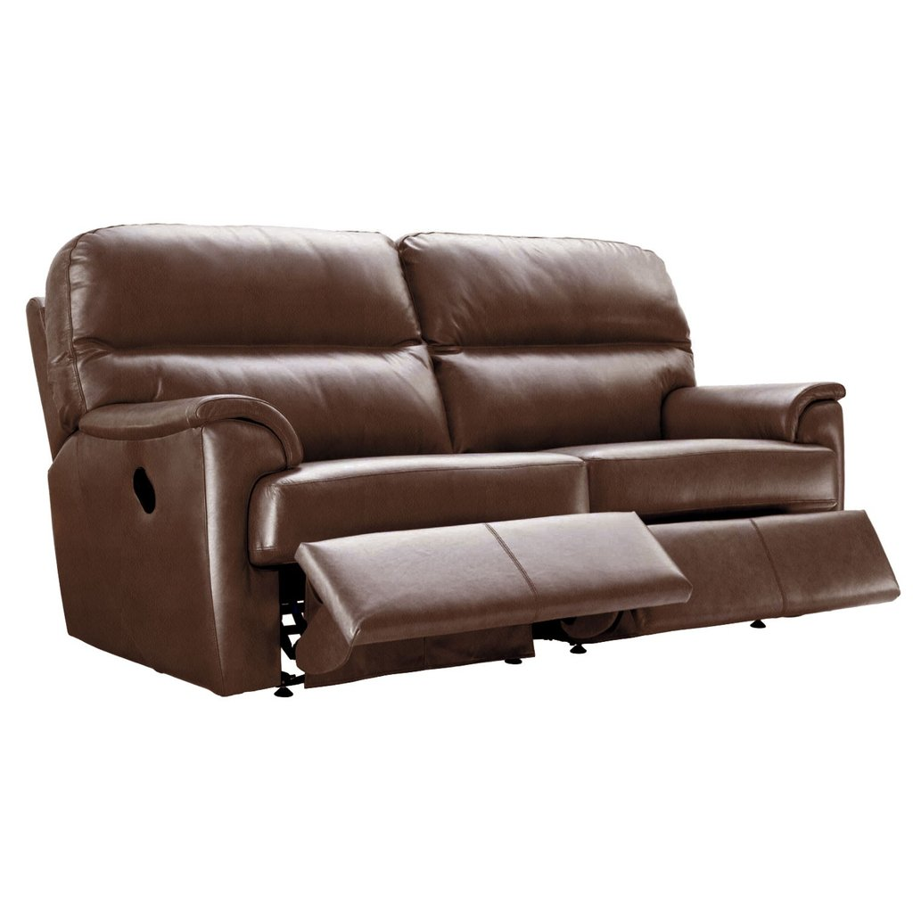 Plan Watson 3 Seater Double Recliner Sofa Leeke Fabric Cover A Double Recliner Sofa