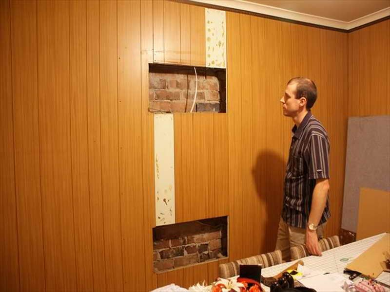 Planning Idea Wood Paneling Makeover Remodel