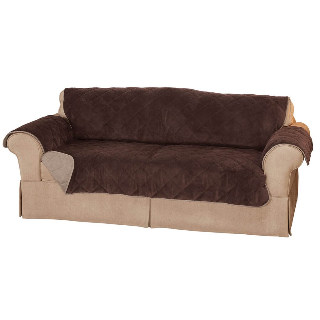 Plush Suede Waterproof Sofa Protector Walter Drake Sofa Protector Home Ideas