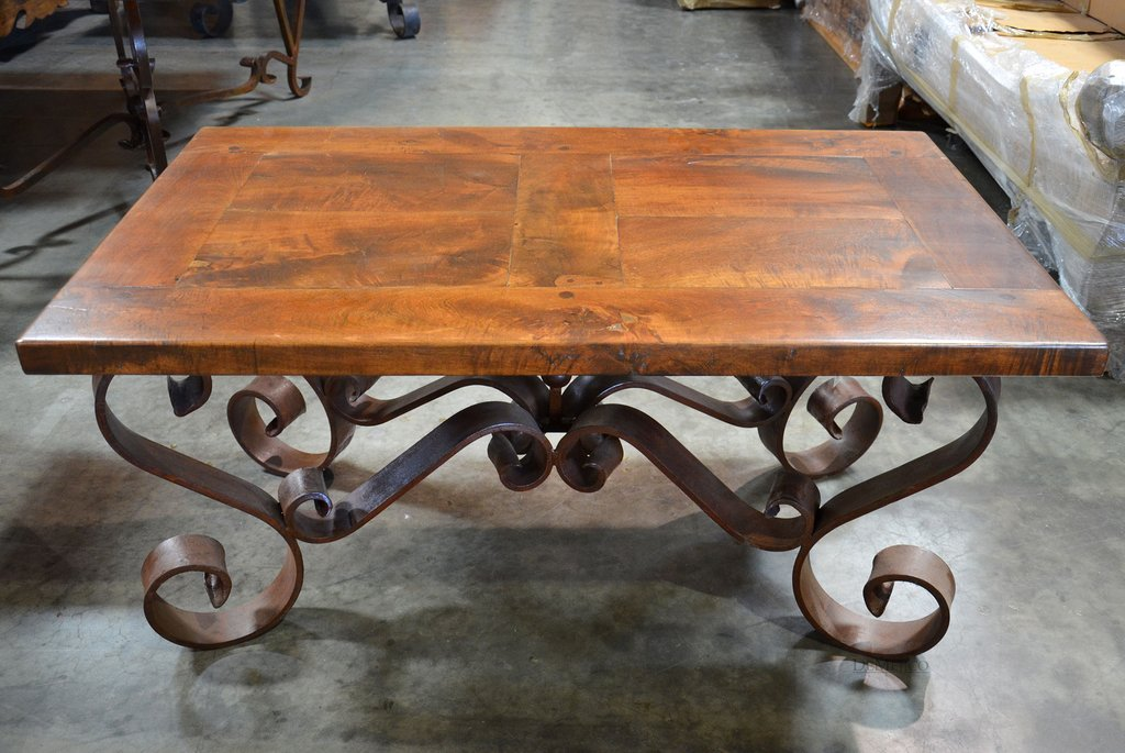 Porfirio Coffee Table Wrought Iron Coffee Table Demejico How To Restore Wrought Iron End Tables