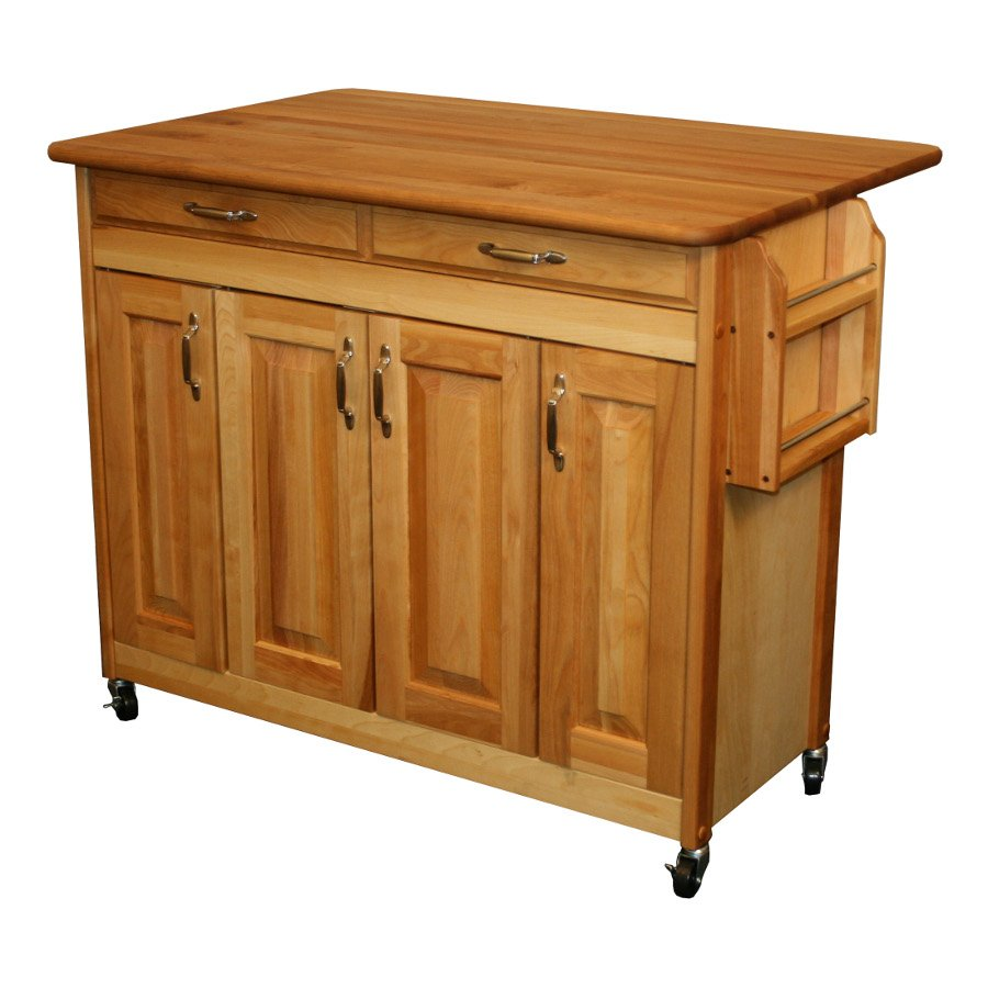 Portable Movable Kitchen Island Rolling Wheel Repainting Butcher Block Kitchen Table