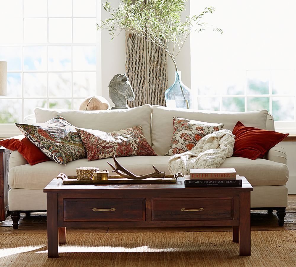Pottery Barn Wood Rustic Pottery Barn Living Room Deep Sectional Sofas Living Room Furniture