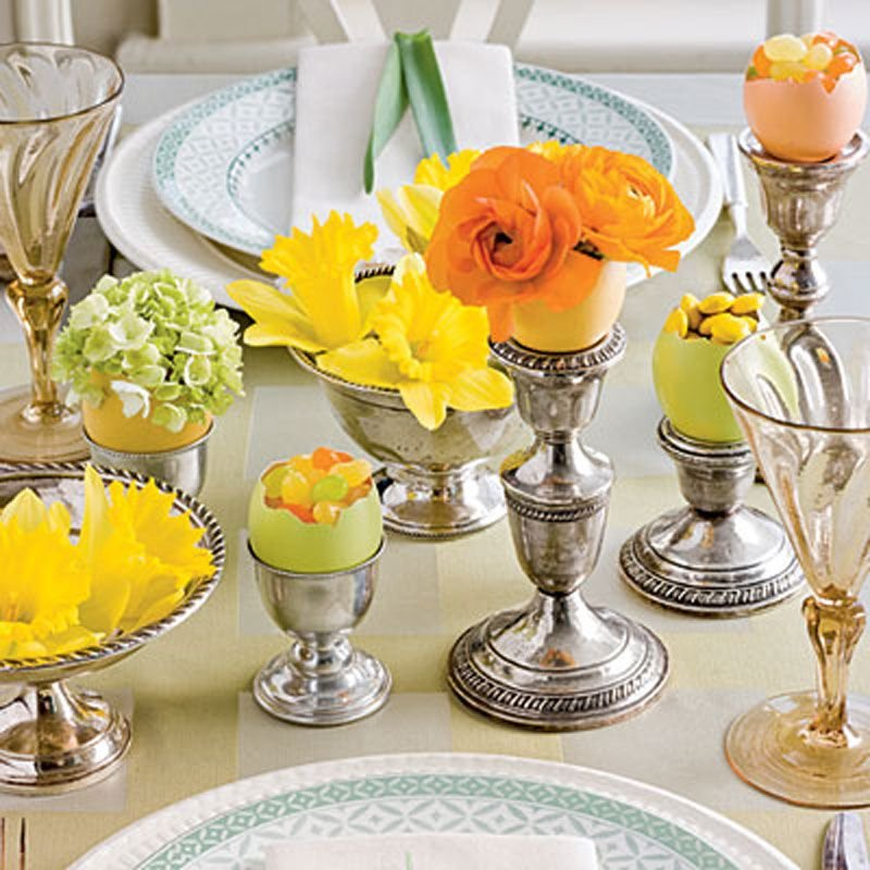 Pretty Easter Decorating Idea Tablescapes Table Dining Room Table Centerpieces Ideas