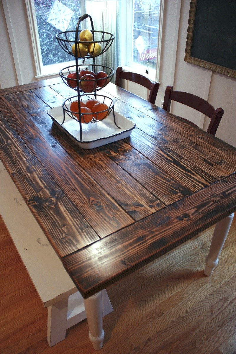 Project Diy Farmhouse Table Vintage Chic Redux Counter Height Kitchen Tables Design