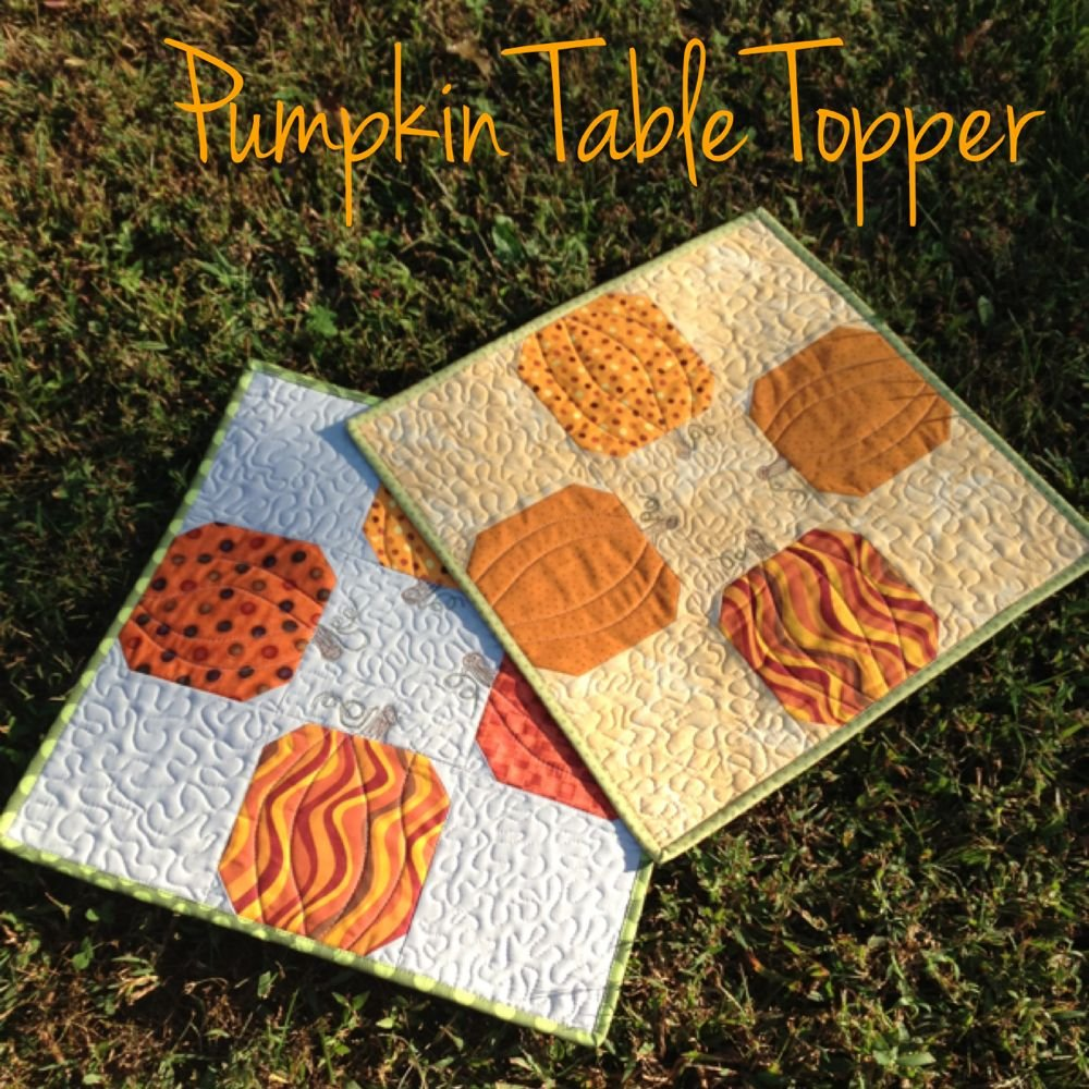 Pumpkin Table Topper Sassy Quilter Changing Table Topper Children