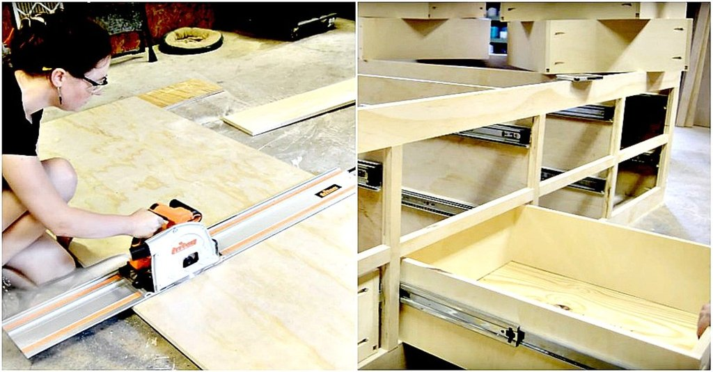 Queen Bed Frame Drawer Storage Crafty Making Wooden Queen Bed Frame