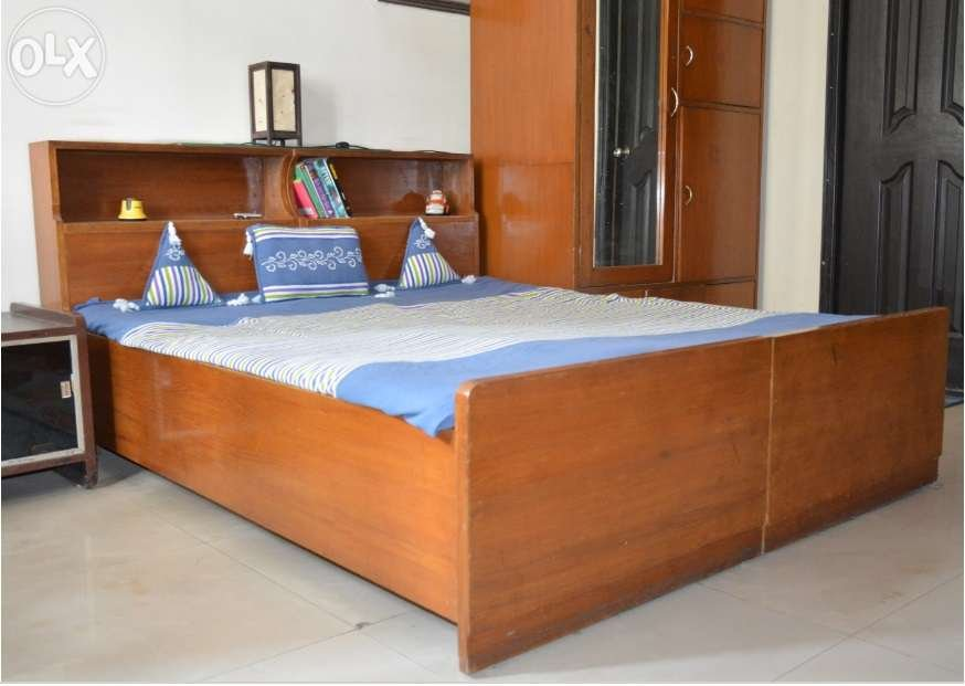 Queen Size Double Bed With Storage Clasf Making Wooden Queen Bed Frame