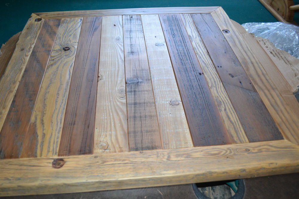 Reclaimed Barn Wood Table Top 30x30 Urban Rustic How To Build Round Wood Table Tops