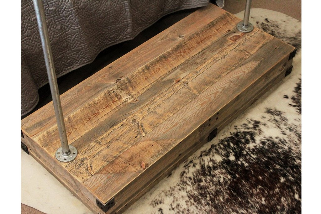 Reclaimed Wood Clothe Rack Spotted Door Ideas For Wooden Clothes Rack