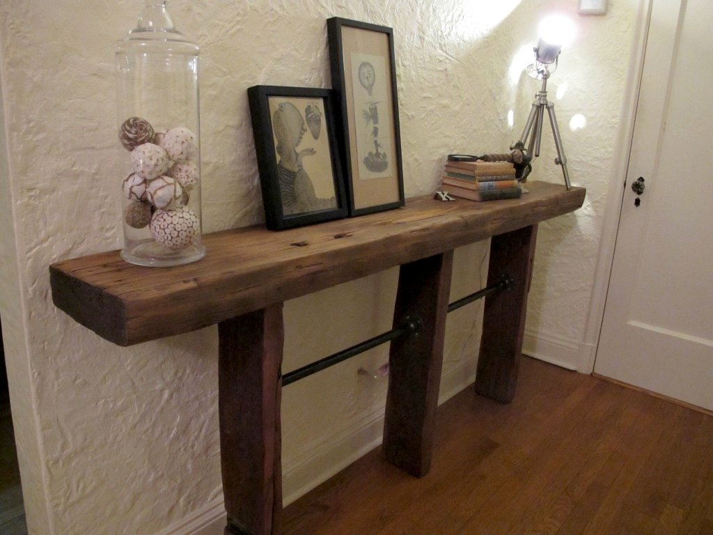 Reclaimed Wood Pipe Table Decor Hack How To Build Round Wood Table Tops