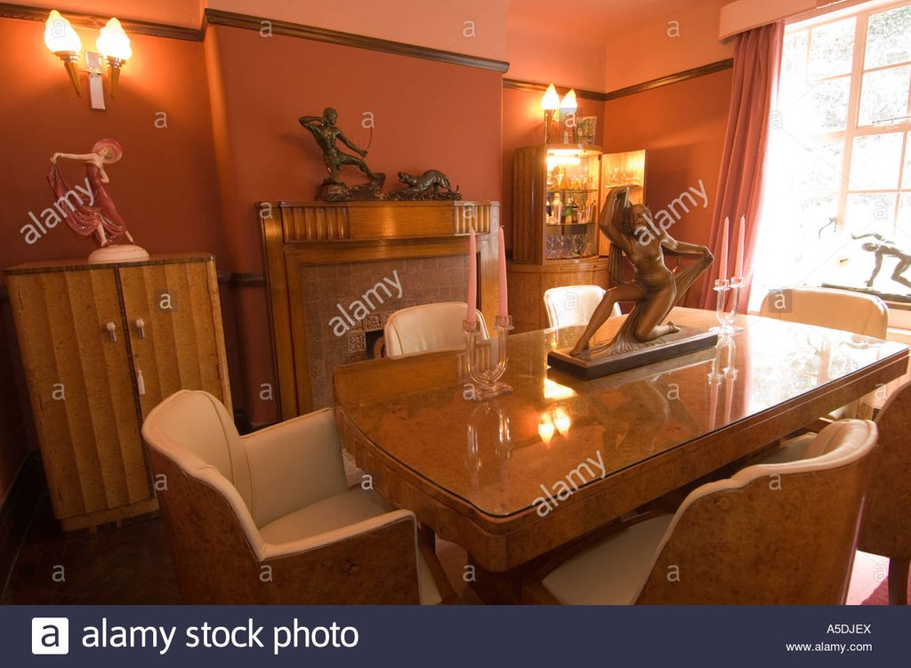 Refurbished Art Deco Art Nouveau 1930 House Interior Color Design For House Interior Dining Room