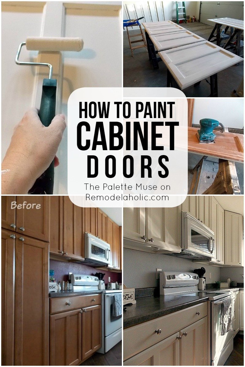 Remodelaholic Paint Cabinet Door How To Match Thermofoil Cabinet Doors