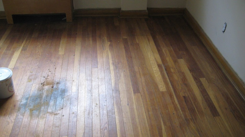 Repair Water Damaged Laminate Flooring Today39 Homeowner Staining Wood Floors With Dark Color