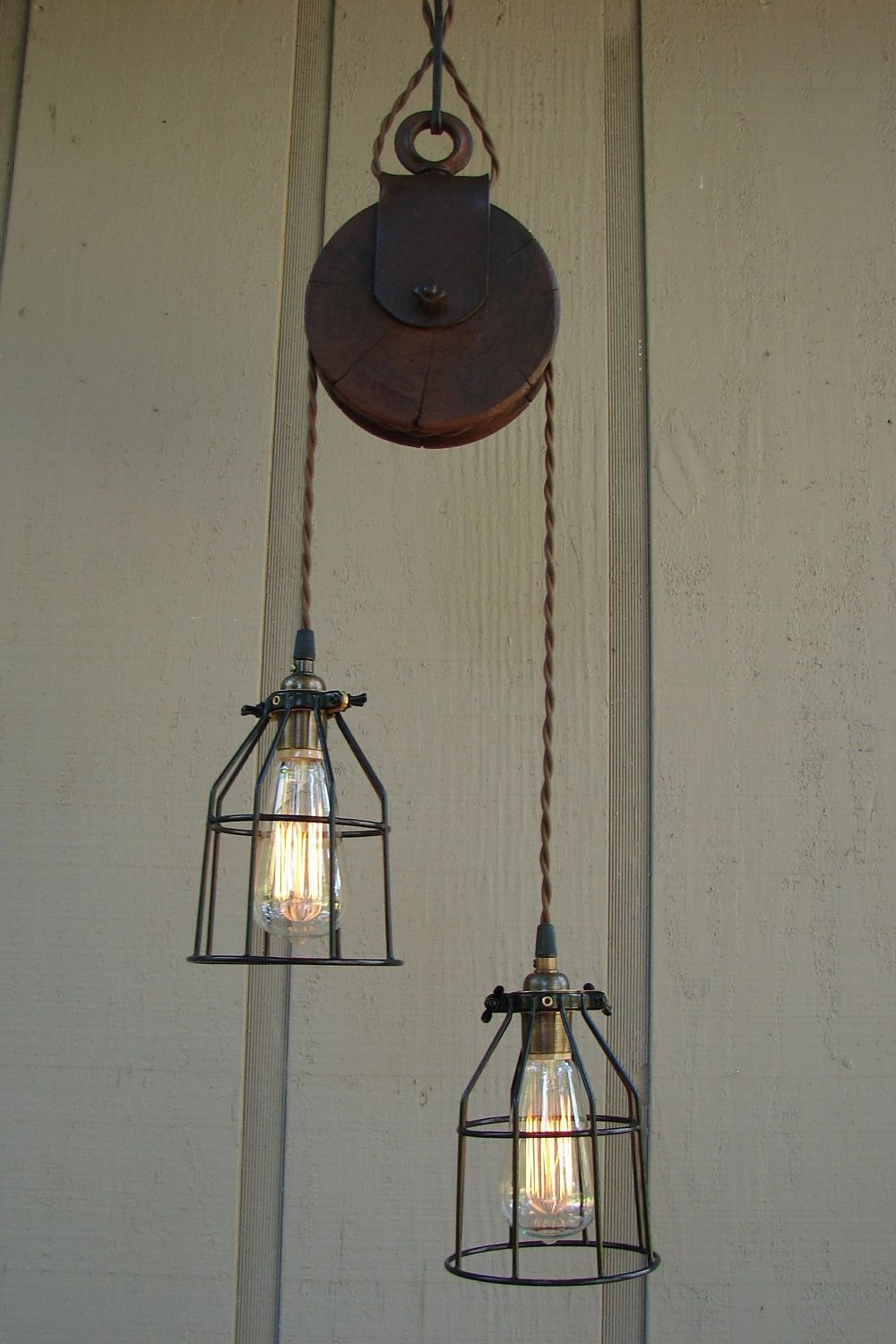 Reserved Diane Upcycled Farm Pulley Lighting Pendant Extendable Dining Table Ideas