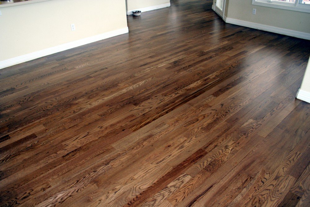 Restaining Hardwood Floor Darker Staining Hardwood Floor Staining Wood Floors With Dark Color