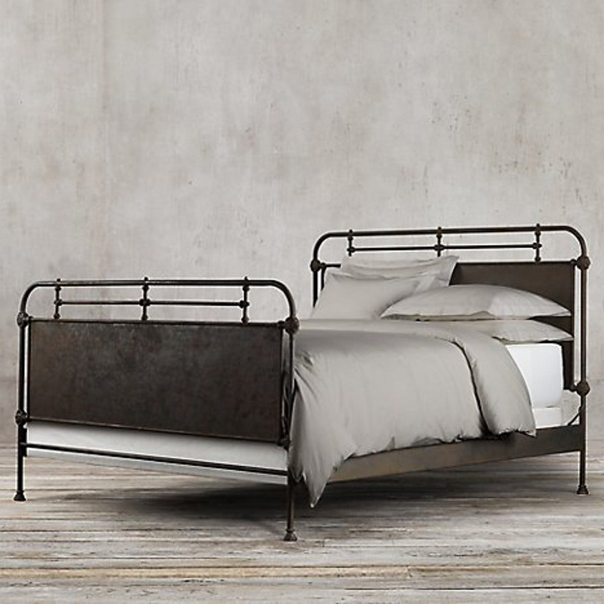 Restoration Hardware Quot French Academie Panel Bed Quot Queen Bed Making Wooden Queen Bed Frame