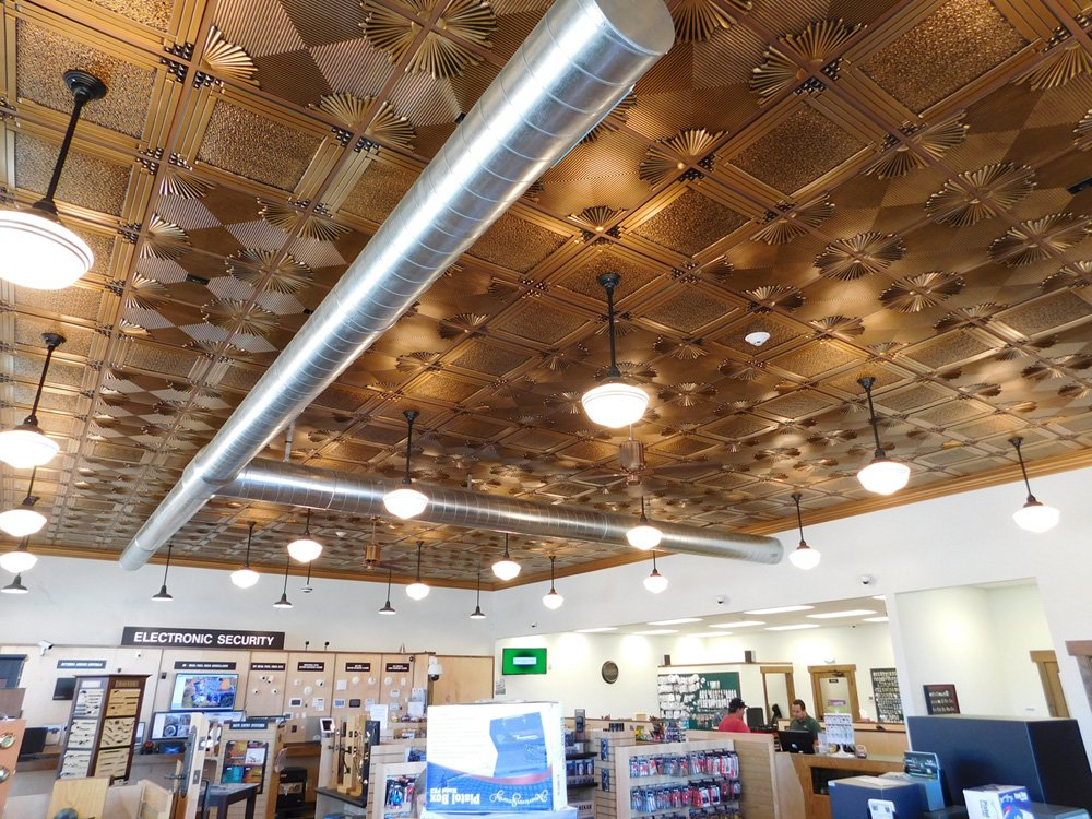 Retail Store Dct Gallery Decorative Copper Ceiling Tiles Tips