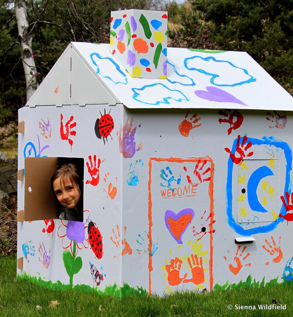 Review Giveaway Eco Friendly Cottage Playhouse Outdoor Wooden Playhouse With Slide
